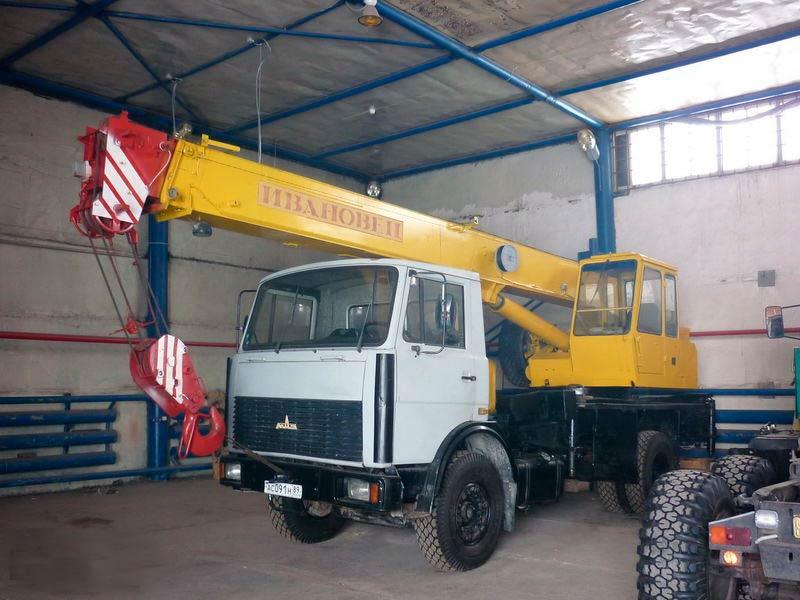 Автокран Ижевск МАЗ, г/п 14 тонн